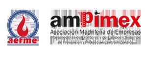 Logotipos AERME y Ampimex